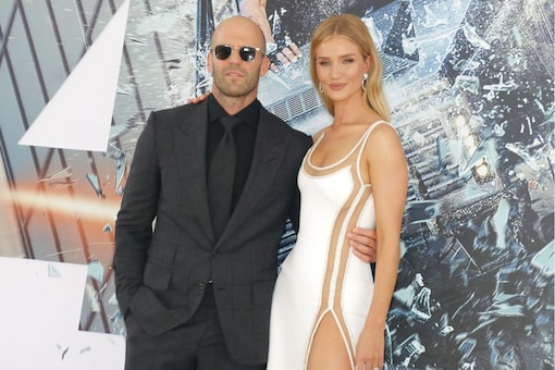 Jason Statham and Rosie Huntington-Whiteley at the World premiere of 'Fast & Furious Presents: Hobbs & Shaw' held at the Dolby Theatre in Hollywood, USA on July 13, 2019. (Image: Shutterstock)