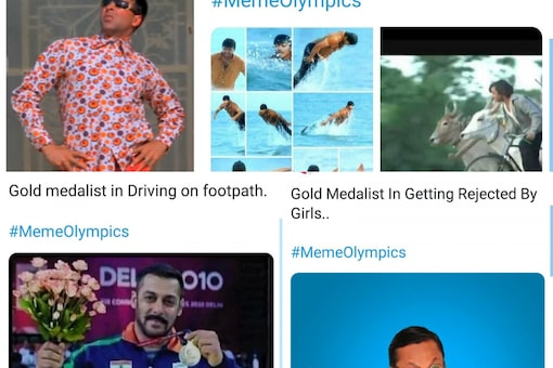 Indians are having their own meme Olympics on Twitter. (Image Credits: @GDBakshi2;@rs_rajender)