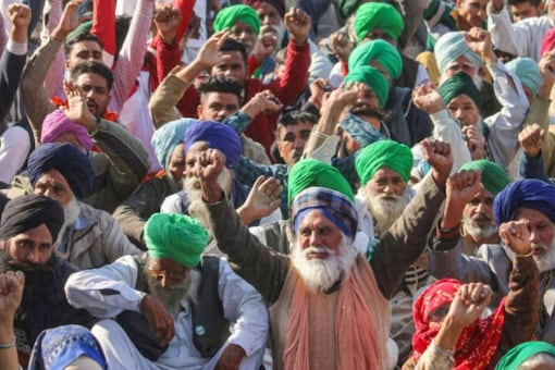 Thousands of farmers have been protesting since late last year at the borders of Delhi and in some other parts of the country, seeking the repeal of three agricultural laws brought by the Centre. File pic: PTI