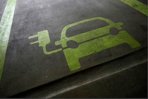 An electric vehicle representation for reserved parking.