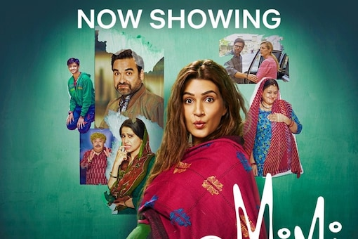 Kriti Sanon as Mimi, which is streaming now on Jio Cinema and Netflix.