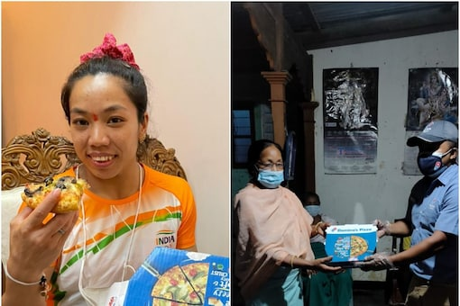 Mirabai Chanu's Pizza Wish Comes True after Domino's Delivers at Olympian's Home