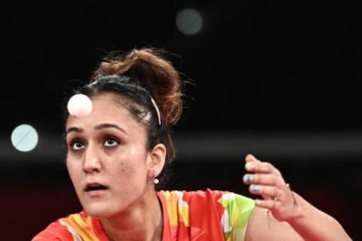 Manika Batra refused to have the national coach courtside during her singles matches. (AFP Photo)