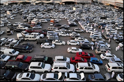 Car parked in a parking lot. Image for representation.