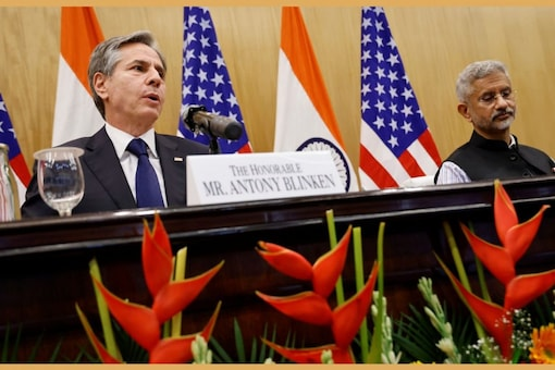 External affairs minister S Jaishankar hailed Biden's administration for keeping the raw materials supply chain open for vaccine manufacture in India during the press conference. REUTERS