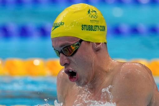 Izaac Stubblety-Cook of Australia in action dueing men's 200-meter breaststroke final (AP)