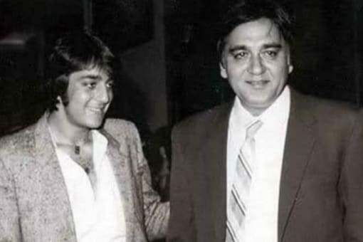 A throwback picture of Sanjay Dutt with his late father Sunil Dutt.