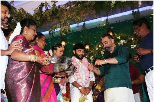 Kamal Haasan presides over Snehan's marriage with Kannika Ravi in Chennai