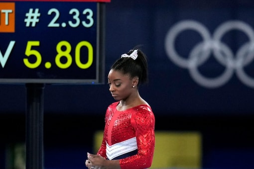 Simone Biles pulled out of Tokyo 2020 over mental health issues. (AP Photo)