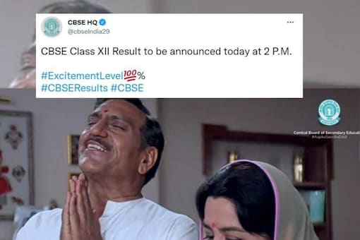 CBSE Class XII Result to be announced today at 2 P.M. Image posted on Twitter by CBSE.