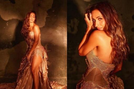 Malaika Arora looks gorgeous in her golden gown