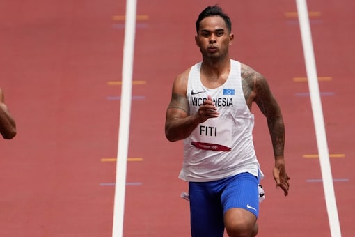 Scott Fiti is one of dozens of athletes across several sports who made it to Tokyo thanks to IOC's universality quota places. (AP Photo)