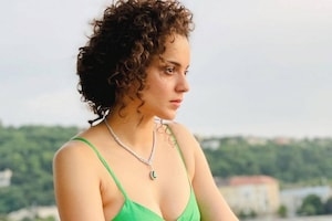 Kangana Ranaut Looks Sexy In Green Dress With Plunging Neckline, Check Out Her Chic Pictures