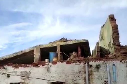 The wall of barrack number 6 caved in around 5.10 am. (Image: Twitter/ ANI)