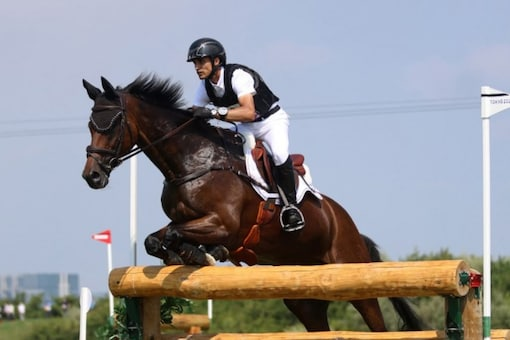Fouaad Mirza is riding his favourite horse Seigneur Medicott. (AFP Photo)