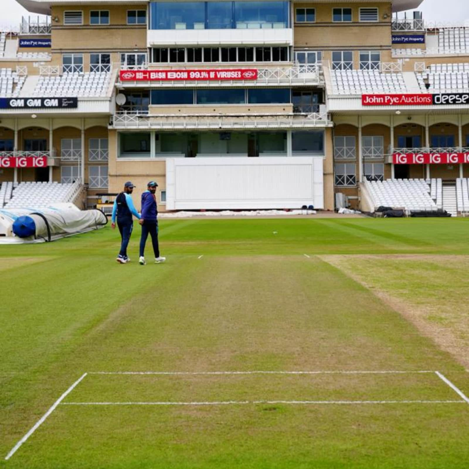 India vs England: BCCI Shares Picture of Nottingham Pitch, and There's  Plenty of Grass - Check Here