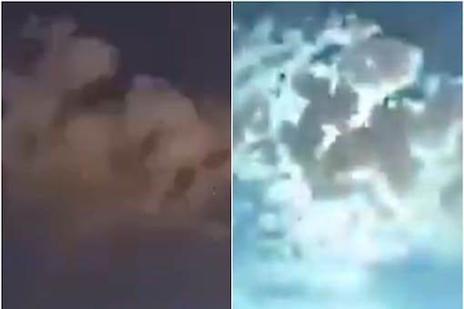 The video shows a ball of fire plummeting from the sky. (Credits:Twitter)