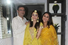 In Pics: Krystle D'Souza, Rhea Chakraborty Attend Rumi Jaffery's Daughter Alfia's Haldi Ceremony