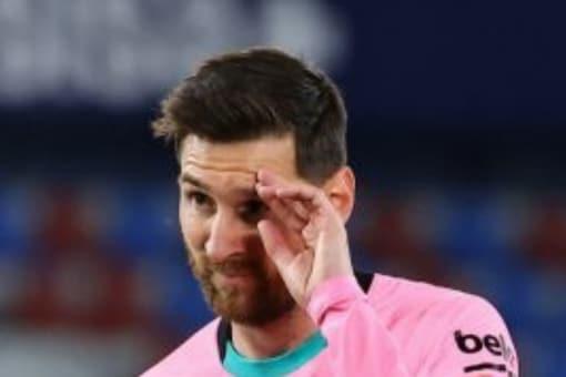Lionel Messi at Barcelona (AFP)