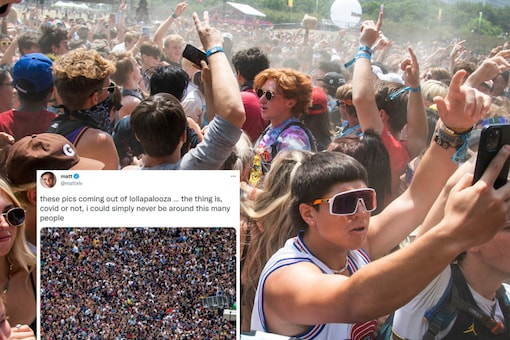 Some Twitter users had serious criticism for the festival attendees, while others made memes. (Photo credit: AP)
