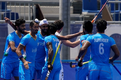 Indian men's hockey team take on Germany in the bronze medal match. (AP Photo)