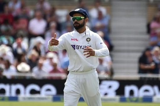 Virat Kohli in action during Day 1 of the 1st Test at Trent Bridge