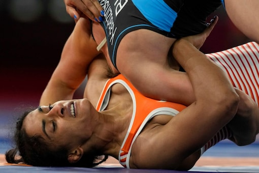 Vinesh Phogat had been temporary suspended by WFI (AP Photo)