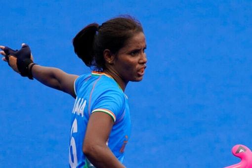 Indian women's hockey team member Vandana Katariya (AP)