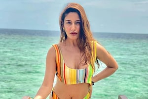 Surbhi Chandna Stuns In Sexy Rainbow-Striped Bikini, Check Out Her Maldives Holiday Pictures