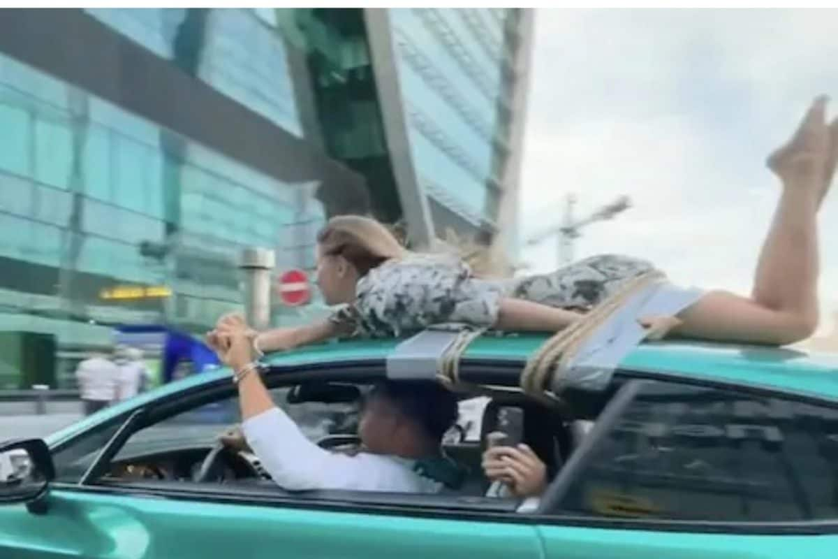 Instagram Influencer Faces Flak For Tying Girlfriend on Top of Car