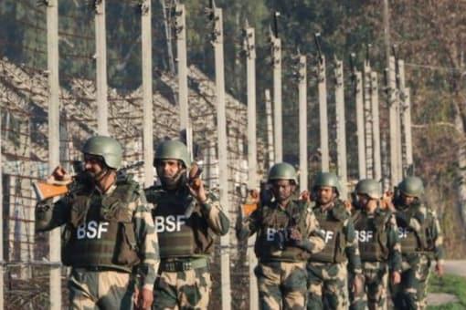 Border Security Force (BSF) men patrol along the India-Pakistan border. (File photo: PTI)