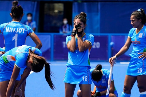 Indian Women's Hockey Team after their loss to Great Britain (AP)