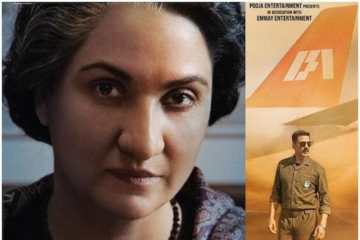 Lara Dutta as Indira Gandhi in Bellbottom.