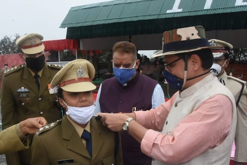 A total of 53 officers passed out from the ITBP officers' training academy in Mussoorie, with Uttarakhand CM Pushkar Singh Dhami officiating as the chief guest. (Image: @ITBP_official)