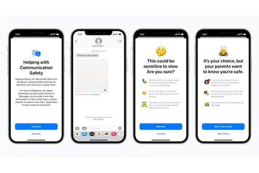 The Apple child protection features arrive later this year with iOS 15, iPadOS 15, watchOS 8, and macOS Monterey.