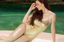 Giorgia Andriani Looks Ravishing In Golden Swimsuit, See Her Slay It In Bikinis And Monokinis