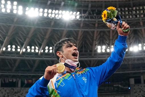 Neeraj Chopra wins gold at Olympics. (AP Photo)