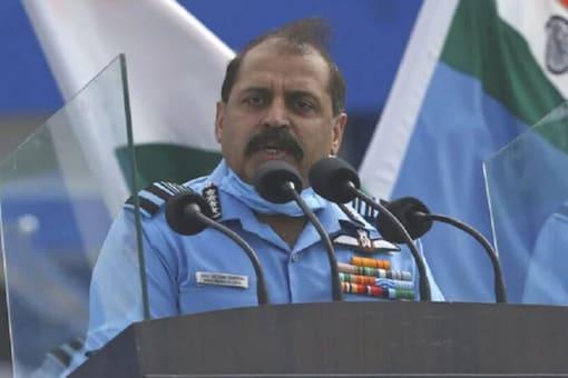 File photo of Air Chief Marshal RKS Bhadauria. (Image: News18)