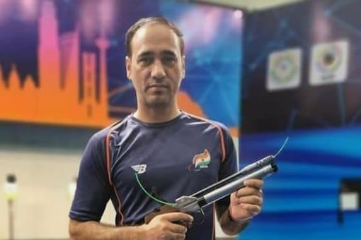 Singhraj Adhana won bronze at Tokyo Paralympics. (Pic Credit: SAI)