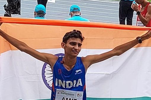 Race walker Amit Khatri won a silver medal at the U20 Athletics Championships. (AFI Photo)