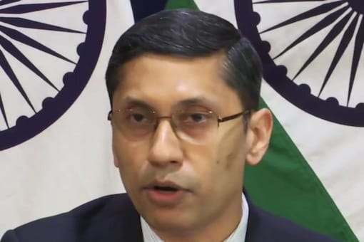 External Affairs Ministry Spokesperson Arindam Bagchi said discussions are going on with the US on the S-400 missile defence deal. (Image: ANI)