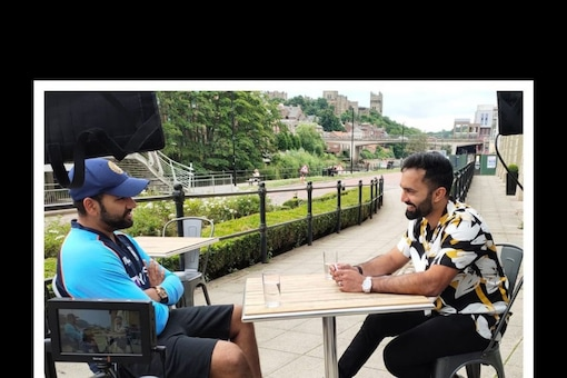 Dinesh Karthik sat down with Rohit Sharma for a tete-a-tete and told fans all about it.