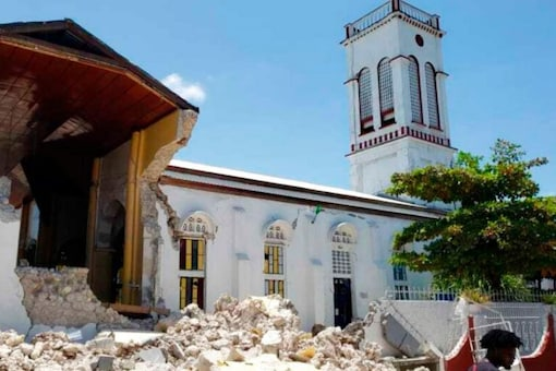 A mob on Oct 3, 2021 vandalised a church in Uttarakhand alleging religious conversion. (Representational Image: AP/Delot Jean)