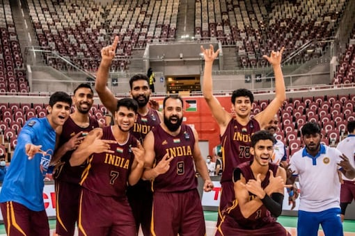 India qualified for FIBA Asia Cup. (India Basketball Twitter Photo)