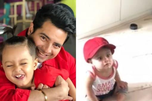 Karan Mehra with his son Kavish Mehra