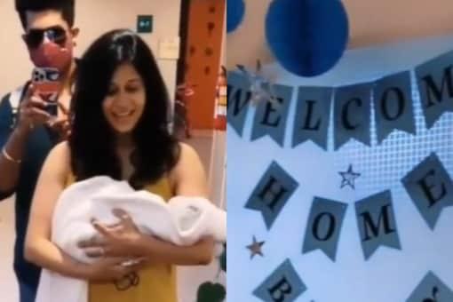 Kishwer Merchant gave birth to a baby boy on August 27.