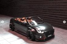 Maruti Suzuki Dzire Imagined as a Sporty Cabriolet, Looks Bold in Dark Finish