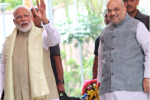 Prime Minister Narendra Modi with Union Home Minister Amit Shah. (Image: Shutterstock)