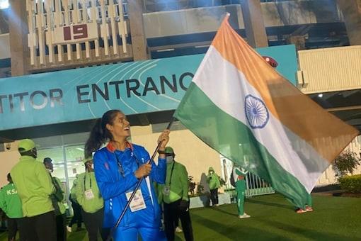 Long jumper Shaili Singh won the World Championships in Under-20 Athletics.  (AFI Twitter photo)