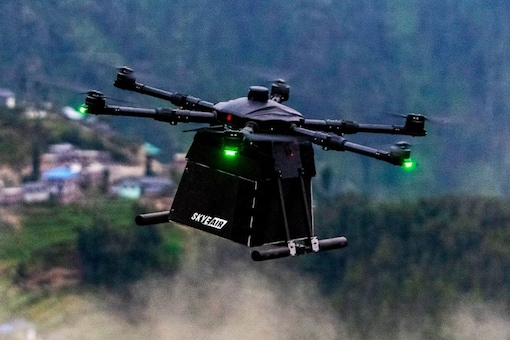 """Skye Air Mobility's focus on healthcare, ecommerce and food logistics, the company was also part of the """"Medicines from the Sky"""" trials of the Telangana Government earlier this year"""